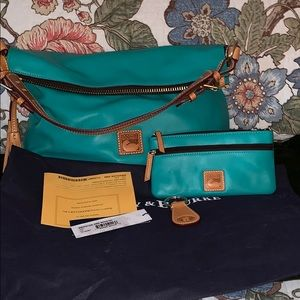 "Dooney & Bourke ""McKenzie"" hobo w/accessories"